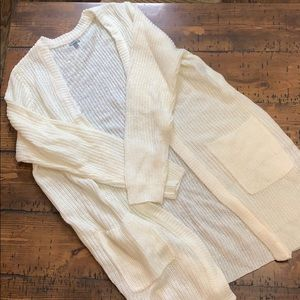 Long off white sweater